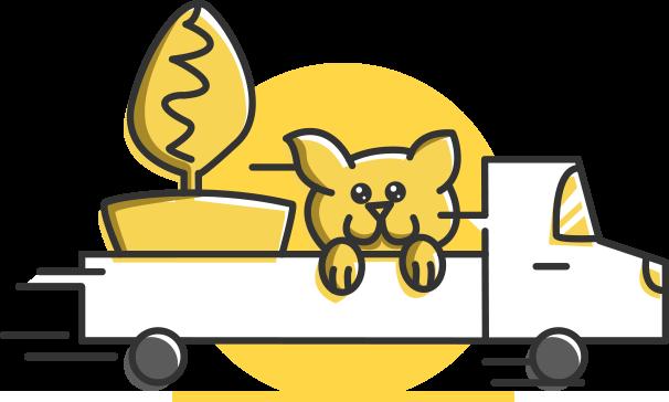 Ícone: Transporte de Plantas e Animais